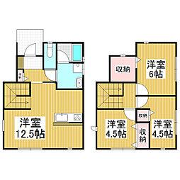 [一戸建] 長野県松本市笹部1丁目 の賃貸【/】の間取り