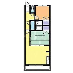 第5コーポ春[1階]の間取り