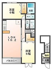 シルクガーデンA[2階]の間取り