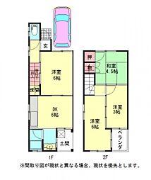 [一戸建] 愛知県名古屋市北区志賀町3丁目 の賃貸【/】の間取り