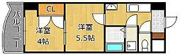 ロイヤルマジェスティ[5階]の間取り
