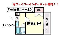 PS豊津[2階]の間取り