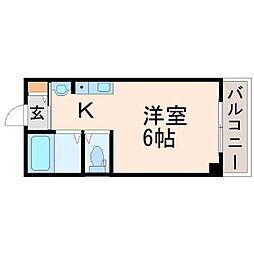 マンション国松[2階]の間取り