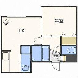 フェリーチェ27[1階]の間取り