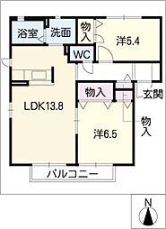プリモ・ピアーノ A棟[1階]の間取り