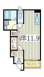 千葉県白井市冨士の賃貸アパートの間取り