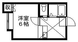 シャトー牡丹山2[1階]の間取り