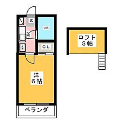 セザンヌ[2階]の間取り