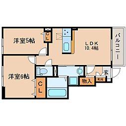 JR東海道本線 静岡駅 バス23分 畑守稲荷前下車 徒歩4分の賃貸アパート 1階2LDKの間取り