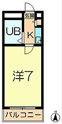 シティパレス東生駒P-3 C[2階]の間取り