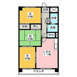 セブンスズキII[2階]の間取り
