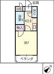 ロープイン背戸田[5階]の間取り