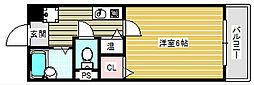 大阪府大阪市住之江区御崎1の賃貸マンションの間取り