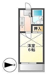 エクセル八田[2階]の間取り