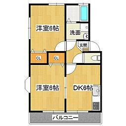 KMS・S4 A-2[2階]の間取り