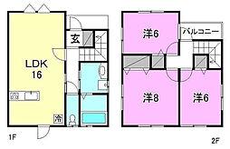 [一戸建] 愛媛県松山市溝辺町 の賃貸【/】の間取り