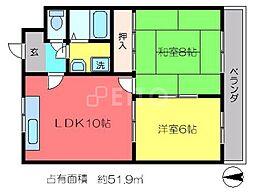 第三京洛[2階]の間取り