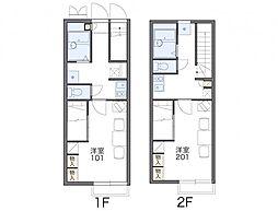 レオパレス折戸[2階]の間取り