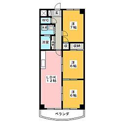 シェレナハイツ[2階]の間取り