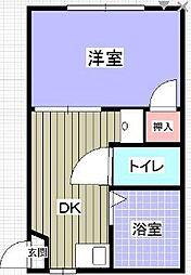 香川県高松市松島町の賃貸アパートの間取り