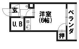 シャトージュネス田中[306号室]の間取り