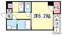 ウォームスヴィル神戸元町JP[5階]の間取り