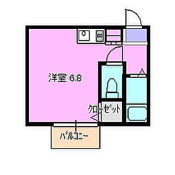 セイントピア茅ヶ崎10  102[1階]の間取り