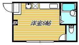 東京都江東区森下5丁目の賃貸アパートの間取り