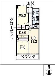 グラン・アベニュー富船[14階]の間取り