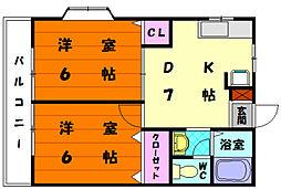 チェリーハウス[2階]の間取り