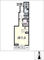 スティア II[1階]の間取り