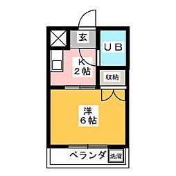 メゾン鶴田[3階]の間取り