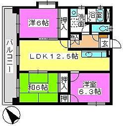 プレジオ篠栗II[3階]の間取り