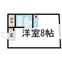 M&Mグリーム尼崎駅前[2階]の間取り