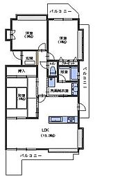 広島県呉市阿賀中央3丁目の賃貸マンションの間取り