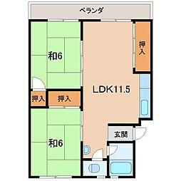 第2矢田マンション[4階]の間取り