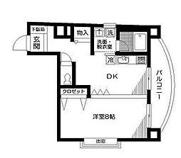 伊野尾書店ビル[0401号室]の間取り