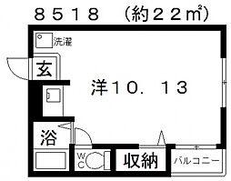 サンシャイン藤井寺[301号室号室]の間取り