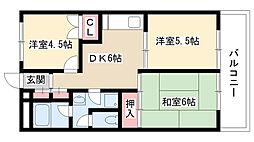愛知県名古屋市名東区上社2の賃貸マンションの間取り