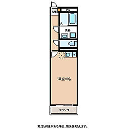 曙町KYハイツ[2階]の間取り