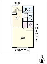フラッツ78[2階]の間取り