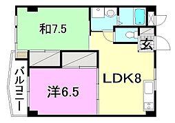 ビージョイマンション5号館[602 号室号室]の間取り