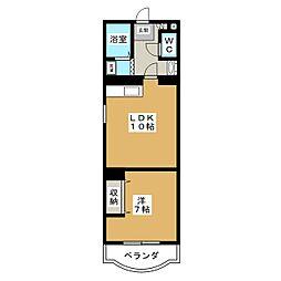 アメニティパレス奥野[3階]の間取り