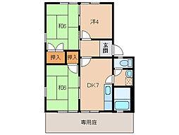 和歌山県和歌山市船所の賃貸アパートの間取り