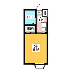 只野コーポ[2階]の間取り