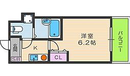 ニューシティアパートメンツ西天満[12階]の間取り