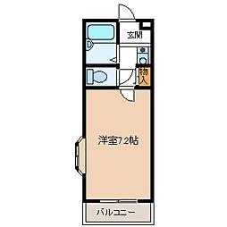 埼玉県久喜市久喜中央2丁目の賃貸アパートの間取り