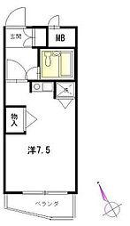 日伸西荻プラザ[2階]の間取り