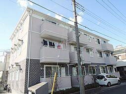 埼玉県川口市南鳩ヶ谷5丁目の賃貸アパートの外観
