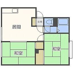 北海道札幌市東区北四十六条東14の賃貸アパートの間取り